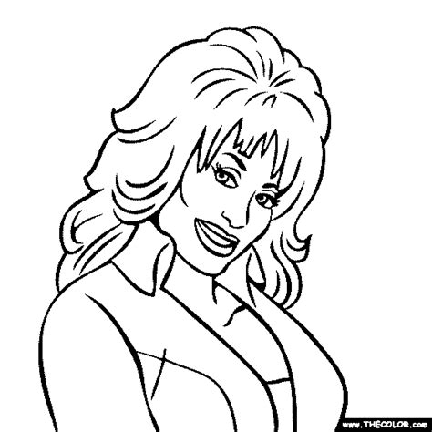 Dolly Parton Coloring Page sketch template
