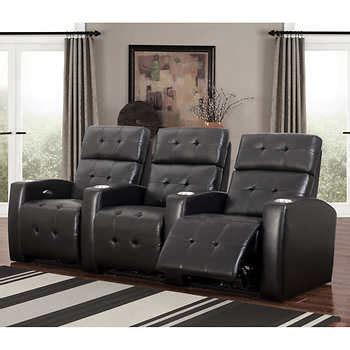 amado 3 reclining living room set andria 3 top grain leather power media recliners