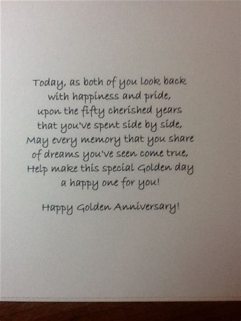 50th wedding anniversary card verses the 25 best 50th anniversary cards ideas on