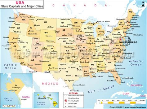 us map with states capitals and cities usa state capitals and major cities map practice writing
