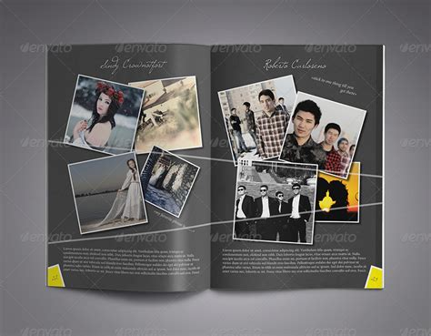 powerpoint yearbook template modern yearbook template by zheksha graphicriver
