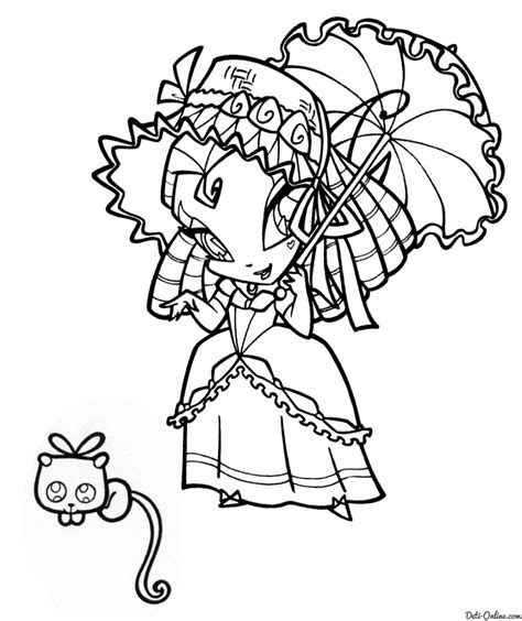 pop pixie coloring pages