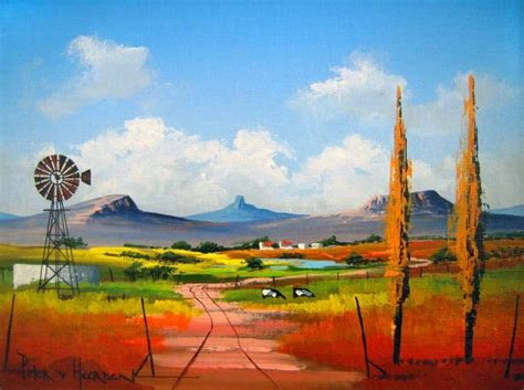 acrylic paint johannesburg pieter heerden colourful landscapes the lonehill