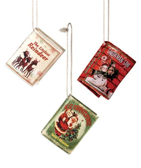 mini retro christmas book ornaments bethany lowe