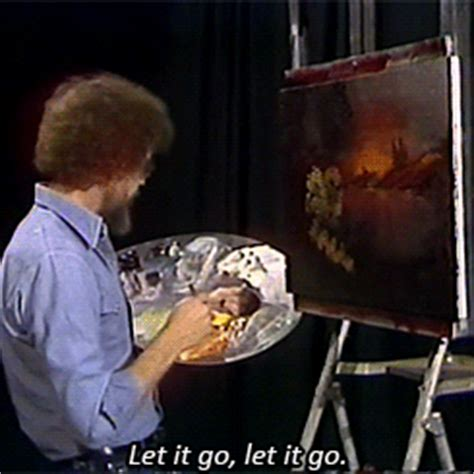 bob ross painting gif snow gif find on giphy