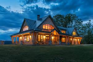 Vermont House Timber Frame Vermont Farm House Rustic Exterior