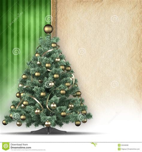 Handmade Paper Tree - tree and handmade paper sheet stock illustration