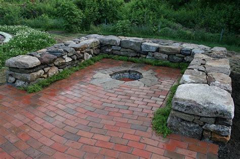 Brick Patio With Pit by Smith Sculpture