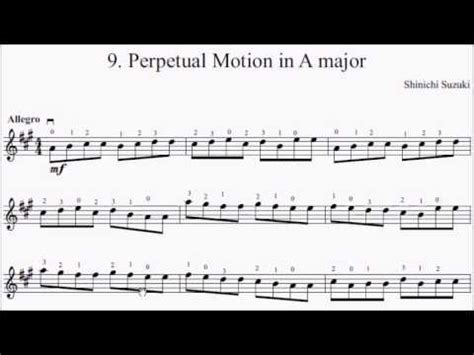 Perpetual Motion Violin Suzuki Book 4 Suzuki Violin Book 1 No 9 Perpetual Motion Sheet