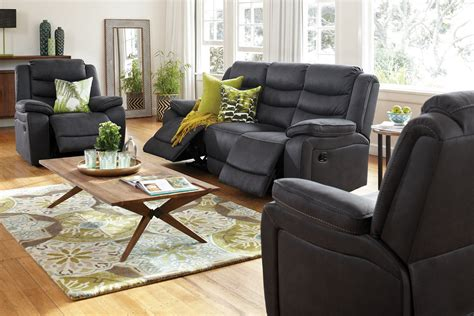 fabric recliner lounge suite tyler 3 piece fabric recliner lounge suite harvey norman
