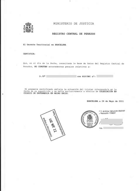 Criminal Record Certificate Portfolio Of Translations To To To Portuguese And To Your
