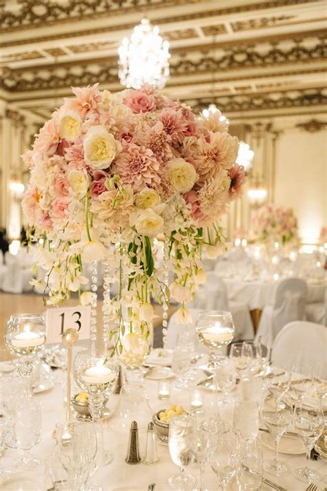 Wedding Flower Trends Blush And Gold Flowers Centerpieces For Wedding