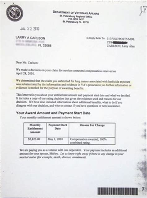 What Does Va Award Letter Look Like U S Veteran Exposes Pentagon S Denials Of Orange Use On Okinawa The Asia Pacific