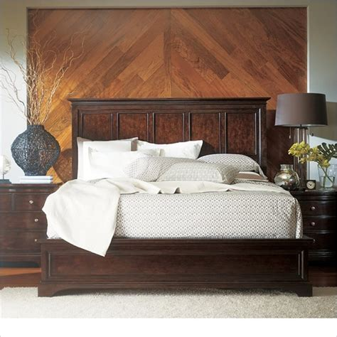 cymax bedroom furniture stanley furniture transitional panel bed polished in sable