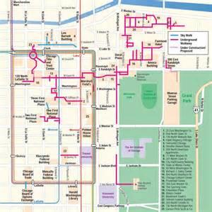 Chicago Underground Tunnels Map mark spiegl s chicago pedway map