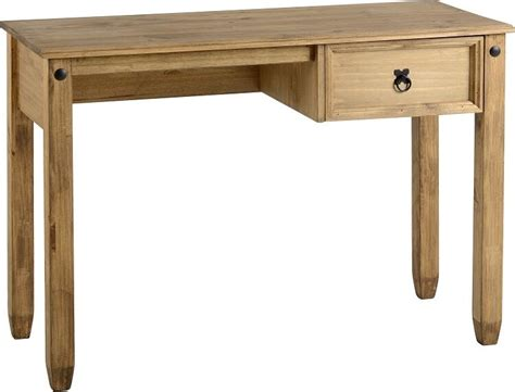 pine desk corona mexican small 1 drawer wooden computer