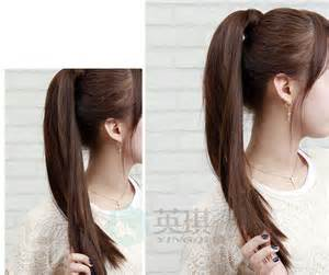 a layered hair wrap long layered tie up pony tail clip on hair piece extension
