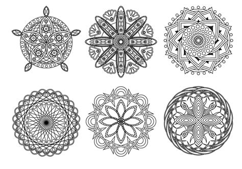 mandala coloring pages vector free mandala vector free vector stock
