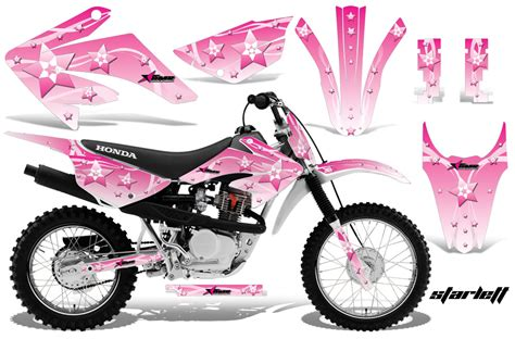 pink motocross honda crf80 crf100 dirt bike decals 2011 2013 honda