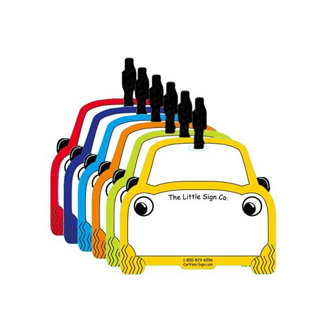 Backpack Tags Car Visor Signs Mirror Hang Tag School Dismissal Bus Car Rider Sign Template