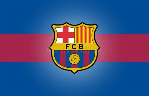 barcelona logo vector fc barcelona logo editorial stock image illustration of