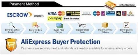 aliexpress escrow paiement sur aliexpress diverses options pour payer sa