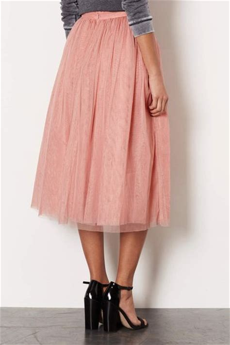topshop ballerina midi skirt in pink lyst