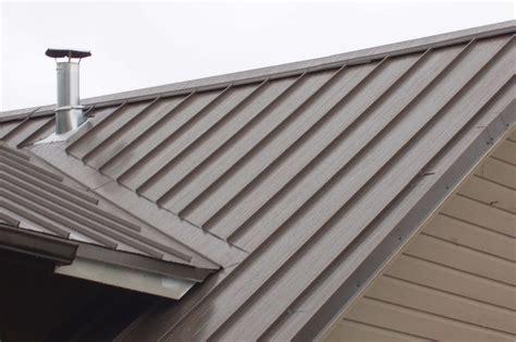 metal roofing on standing seam metal roof ridge vent detail