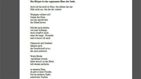 gedicht haus liam der k 246 rper ist das haus der sogenannten seele