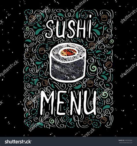 japanese menu card template sushi menu card template stock vector 328330382