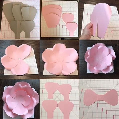 diy paper flower template diy paper flower with center new template not sold