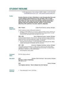 Sample Nursing Resume New Graduate student resume templates student resume template easyjob