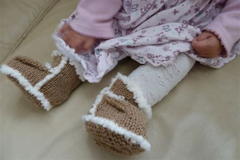 knitted baby ugg boots s world parenting craft and travel knitted ugg boots and pretty dresses