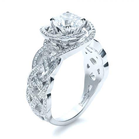 Filigree Engagement Ring by Custom Filigree Shank Engagement Ring 1378