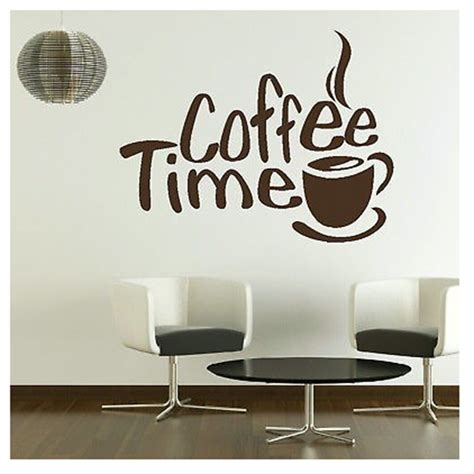 wall stickers shop time cafe wall decals murals dining room kitchen coffee