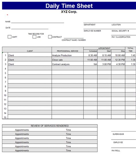 tracking sheet template excel time tracking sheet template