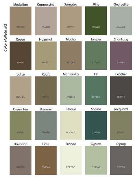 pacific northwest color palette color home matters paint colors colors and