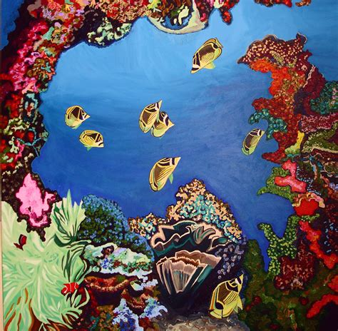 coral reef painting tropical coral reefs tropical and drawing ideas