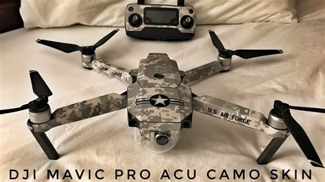 Dji Mavic Pro Acu Camo Skin Installed From Decal Girl Youtube Dji Mavic Air Skin Template