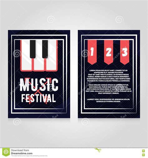 Festival Brochure Design by Festival Brochure Flier Design Template Vector
