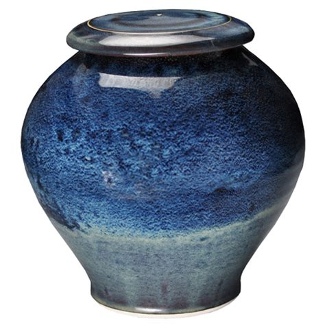 galaxy pottery pottery pet urn blue galaxy