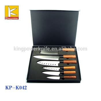 Sale Pisau Set Kitchen King 6pcs sale 6 pcs black wooden handle japanese steel cooking