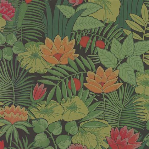 print a wallpaper reverie jungle floral print wallpaper little greene