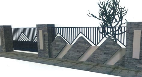 desain pagar rumah unik minimalis modern house design design house pagar rumah