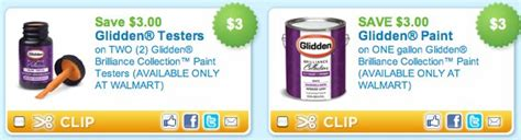 glidden paint printable coupons only 1 44 cents at walmart