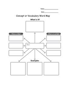 Concept Map Template Word by Mind Map Template For Word Concept Or Vocabulary Word