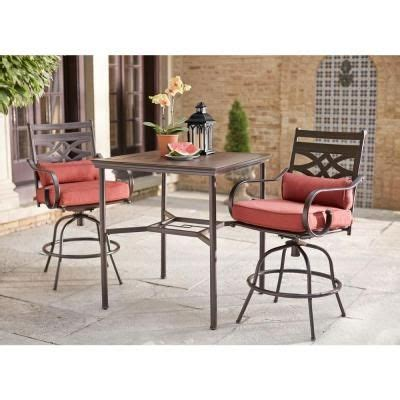 Patio Dining Sets Home Depot Middletown 3 Motion High Patio Dining Set With Dragonfruit Cushions Patio Dining Home