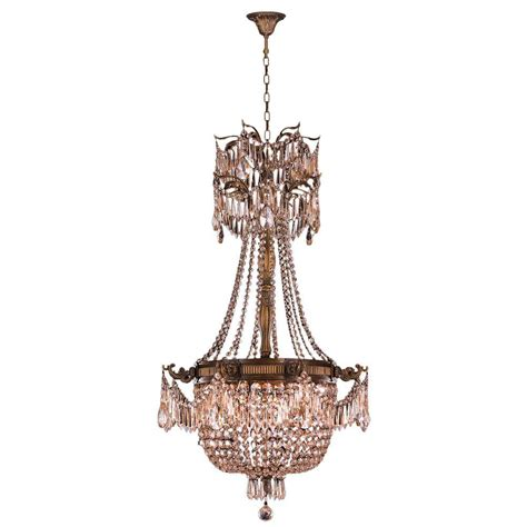 Antique Bronze Chandeliers Worldwide Lighting Winchester 4 Light Antique Bronze And Golden Teak Chandelier