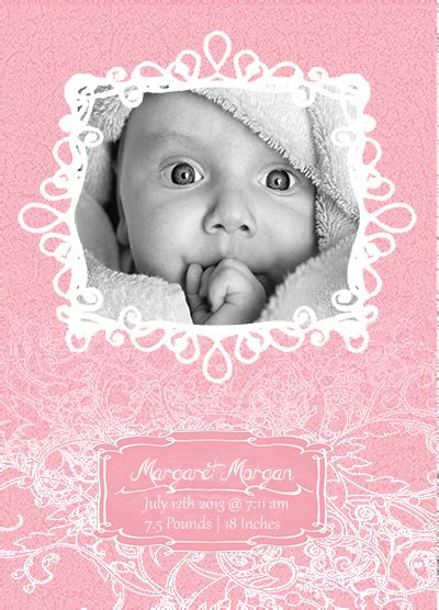 free baby announcements templates free photoshop and vector baby announcement templates on