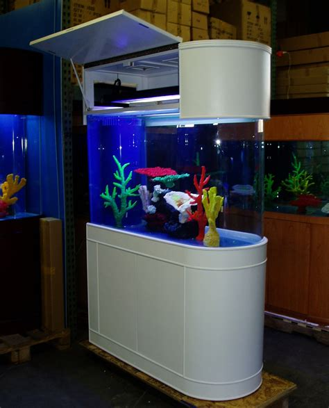 Aquarium Room Divider with 100 Gallon Fish Tank Quarter 100 125 185 2 80 380 600 850 Gallon Cylinder Glass